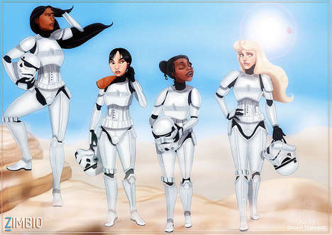 Galactic Disney Princesses - These Disney Movie Characters Receive a Star Wars-Themed Makeover