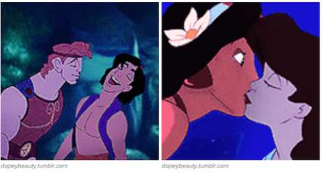 LGBT Disney Couples - These LGBT Disney Princess GIFs Challenge the Way the World Sees Romance