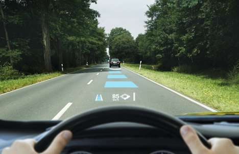Digital Windshield Displays - This High-Tech Windshield Includes Augmented Reality Features