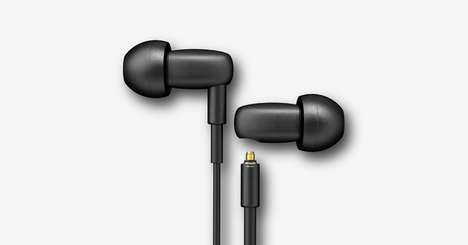 Solid Steel Earphones - These High-Quality Earbuds are Made from Durable Stainless Steel