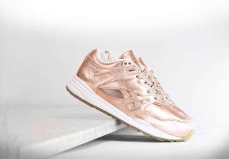 Rose Gold Sneakers - The Reebok 'Ventilator' Gets a Shiny New Update for It's 25th Anniversary