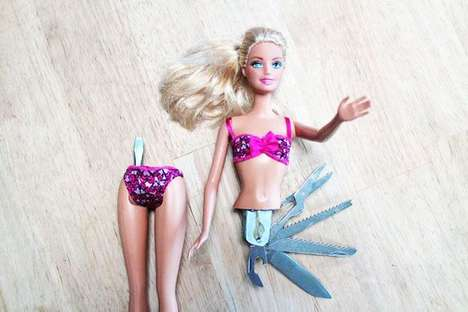DIY Swiss Army Barbies - This DIY Project Transforms Barbie into a Knife-Wielding Bombshell