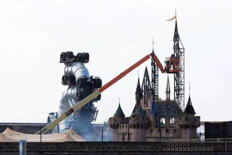 Dystopian Theme Parks - Banksy's Dismaland is a Warped Version of Big Corporate Amusement Parks