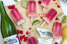 Raspberry Lime Sangria Popsicles - The Boozy Ice Pops Are Refreshing and an Adult-Appropriate Treat