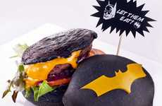Superhero-Inspired Burgers - These Batman Burgers are Served on a Charcoal-Colored Bun