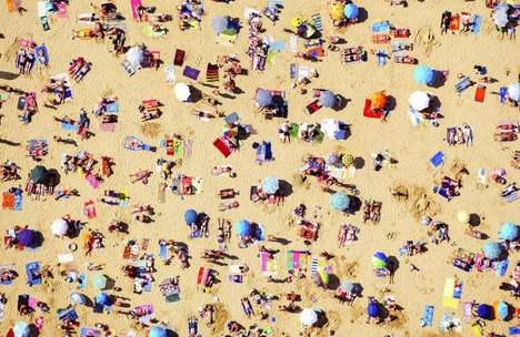 Stunning Aerial Beach Images - Artist Tommy Clarke Hangs Out of Helicopters to Capture These Photos