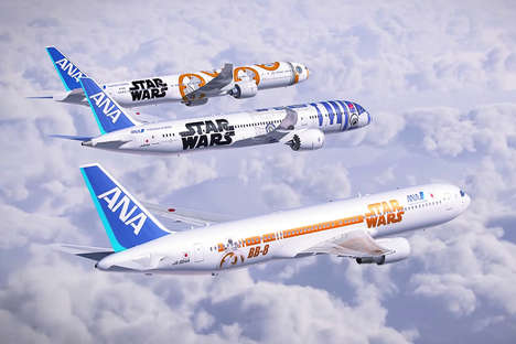 Galactic-Themed Jets - These Commercial Jets are inspired by the Star Wars Universe