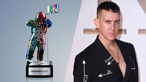 Redesigned Award Show Trophies - Designer Jeremy Scott Gives MTV's Moonman a Modern Makeover