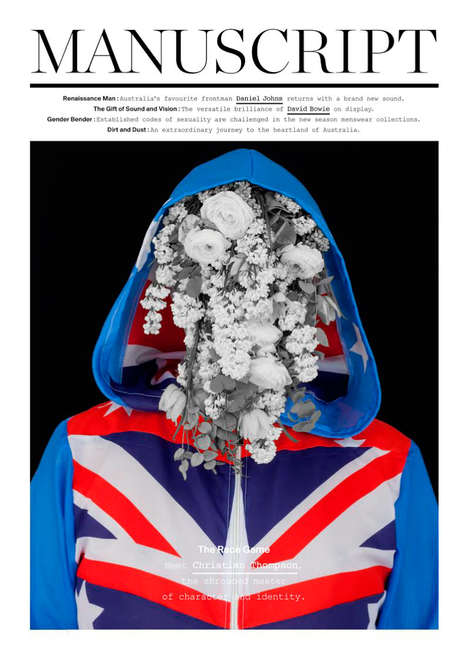 Flower-Faced Fashion Photography - The Latest Manuscript Cover Boasts Art by Christian Thompson