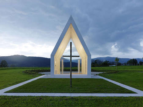 Transparent Chapel Architecture - This Modern Chapel is Designed With Minimalism in Mind
