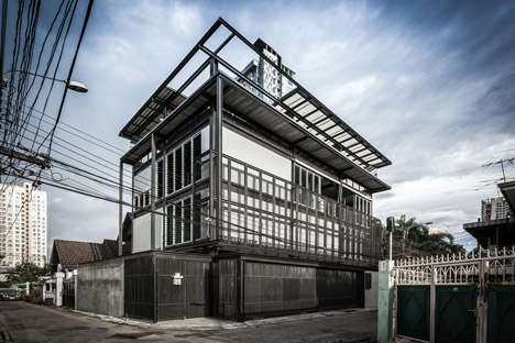 Structural Steel Homes - Bangkok's 'Tinman' House is Inspired by the Heartless Character's Innards