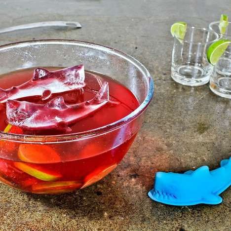 Chilly Predator Cubes - These 3D Shark Ice Cube Designs Add a Hungry Sea Creature to Your Drinks