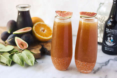 Balanced Kombucha Cocktails - This Spiced Rum Cocktail Combines Figs, Orange, Rum and Gut Health