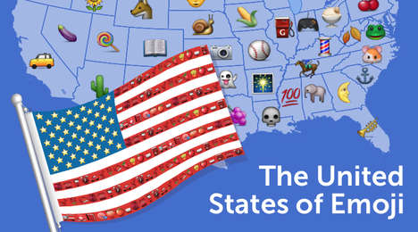 Interactive Emoji Maps - This Emoji Map Illustrates Which State Uses Which Emoji Most