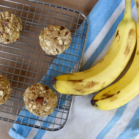 Banana Bread Cookies - These Healthy Breakfast Cookies Only Require Four Ingredients to Make