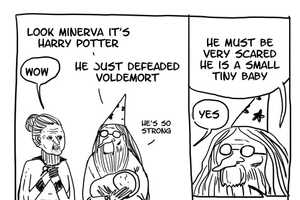 These Harry Potter Cartoons Cast Dumbledore in a New (and Funny) Light