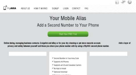 Mobile Alias Apps - The MyAKA Gives Protects Privacy by Issuing a Secondary Number