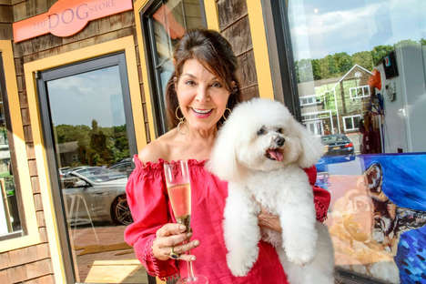 Designer Dog Boutiques - The East Hampton 'Dog Shop' Sells Pooch Accessories as a Live Harpist Plays