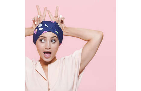 Fashion-Forward Shower Caps - This Stylish Bath Accessory Helps to Keep Hair Dry in the Shower