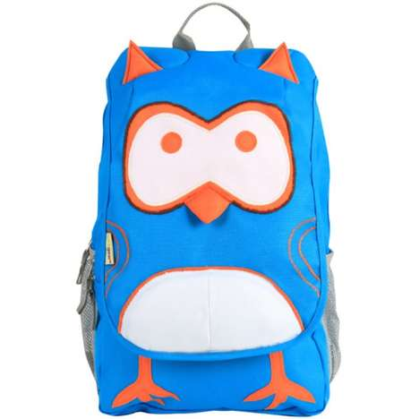 Practical Avian Backpacks - The EcoZoo Owl Bag Stores School Supplies in Style