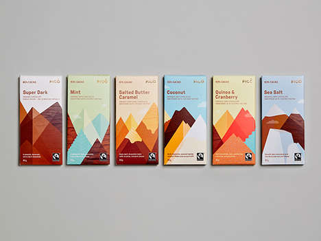 Mountainous Chocolate Labels - This Australian Chocolate Bar is Packaged with Illustrated Scenery