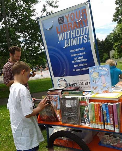 Mobile Library Carts - These Passionate Librarians are Delivering Books Via Bicycles