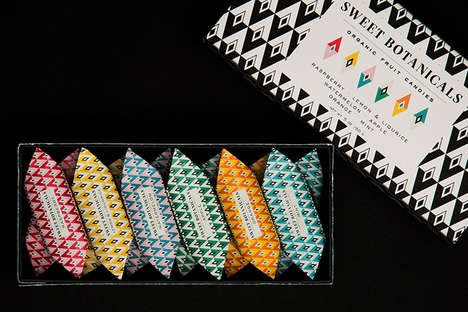 Angular Candy Wrappers - This Packaging for Sweet Botanicals' Candy Uses Vibrant Colors