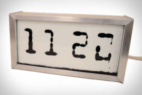 Fluid-Filled Digital Clocks - This Unusual Clock Relies on Electromagnets to Display the Time