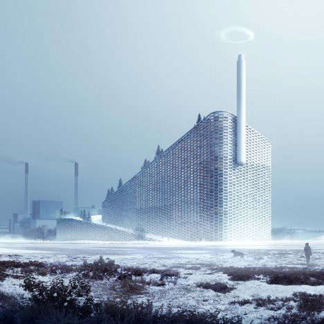 Steam Ring Chimneys - This Clean Energy Plant Launched a Campaign for Its Steam Ring Generator
