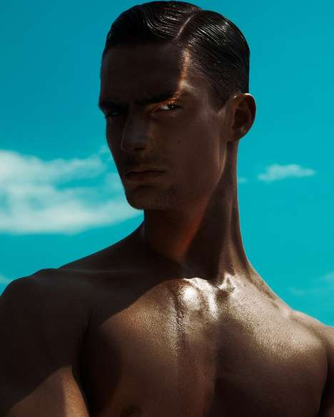Sculpted Model Photography - Jackson Rado Poses in a Candid Image Series by Oleg Borisuk