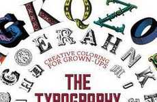 Typographic Coloring Books - This Unique Coloring Book by Gillian Johnson Inspires Adult Creativity