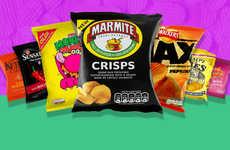 Bizarre Retro Chip Flavors - This British Chip Campaign Resurrects Five Lost Flavors