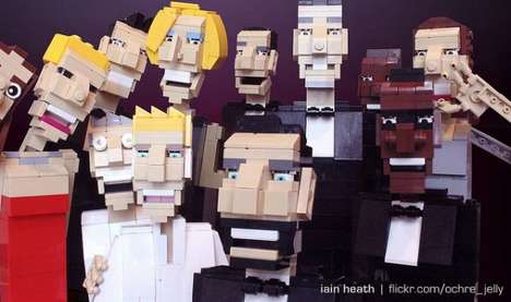 37 Pop Culture LEGO Collaborations - From Superhero LEGO Statues to Robot LEGO Toys