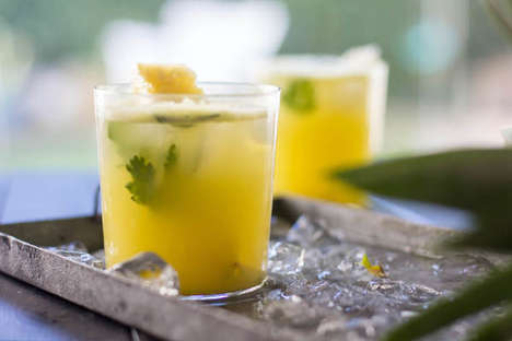 Tropical Summer Cocktails - The Cilantro Pineapple Cocktail Puts a Seasonal Spin on the Moscow Mule
