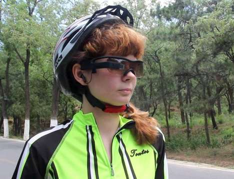 Augmented Reality Cycling Glasses - This Hands-Free Device Provides Visual Updates During a Ride