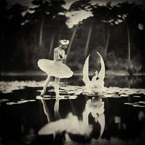 Deceptive Ballet Photography - This Swan Lake Photo Appears to Have its Subjects Floating on Water