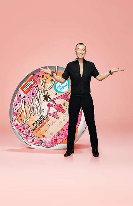 Designer Yogurt Pots - Mullerlight Sourced Julien Macdonald for Blogger-Designed Yogurt Packaging