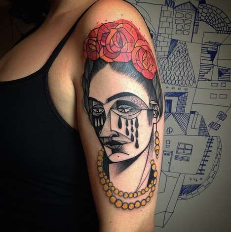 Cubist-Inspired Tattoos - These Eye-Catching Tattoos Resemble the Work of Pablo Picasso