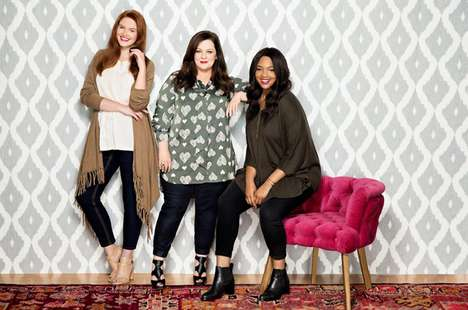 Size-Inclusive Celebrity Fashions - Melissa McCarthy's Clothing Line with Seven7 Has Sizes 4 to 28