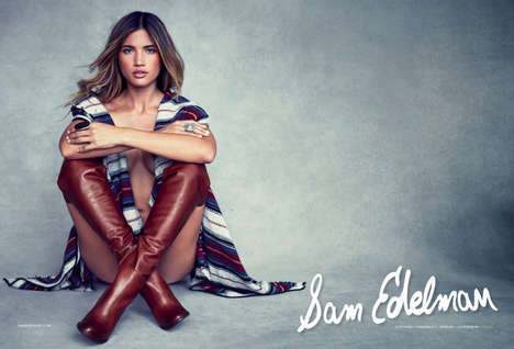 Sultry Shoe Campaigns - Blogger Rocky Barnes is the Face of This Season's Sam Edelman Shoes