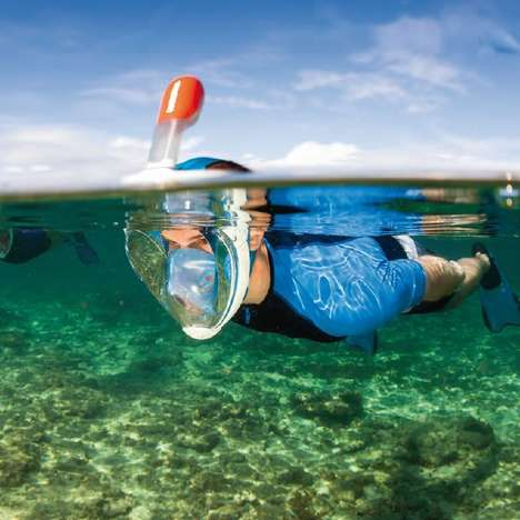 Multifunctional Diving Masks - This Snorkelling Mask Covers Your Entire Face for Easy Breathing