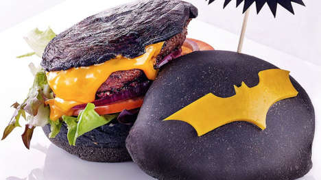 Superhero Burger Buns - The Batman Burger is Ideal for Fans of the Dark Knight Comics and Films