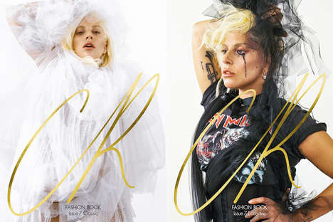 Celebrity Fashion Book Covers - Lady Gaga Displays Edgy Style while Fronting the CR Fashion Book
