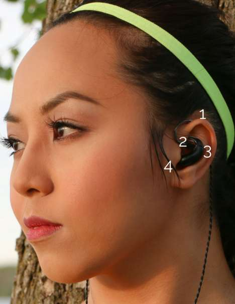 Form-Fitting Earphones - The LIFE Headphones Boast a Secure Hold and High-End Audio Performance