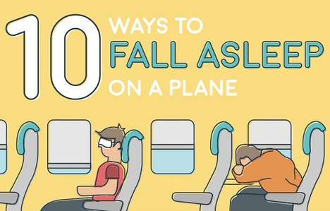 Air Travel Sleeping Guides - This Helpful Infographic Offers Advice on How to Sleep on Planes