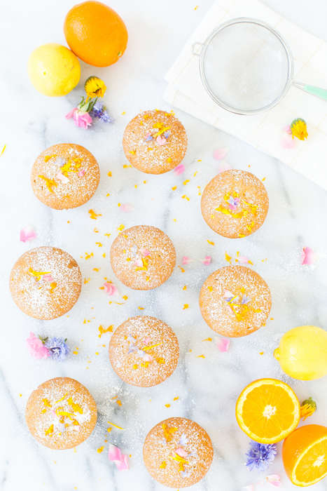 Citrusy Olive Oil Desserts - These Homemade Orange Cupcakes Feature Lemon-Infused Olive Oil
