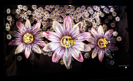 Blossoming Floral Installations - Apple Invaded Selfridges with Elaborate Flower-Themed Displays