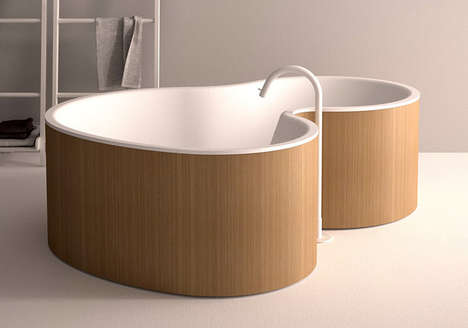 23 Modern Bathtub Designs - From Fluid Wooden Tubs to Bowl-Inspired Baths