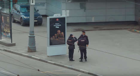 Secretive Smart Billboards - Grocery Store Don Giulio Salumeria is Running a Hidden Ad Campaign