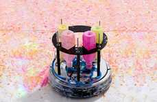 Robotic Painting Devices - This Tiny Robot Creates Brilliant Works of Abstract Art